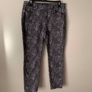 TALBOTS Signature Animal Leopard Pants Jeans - 8